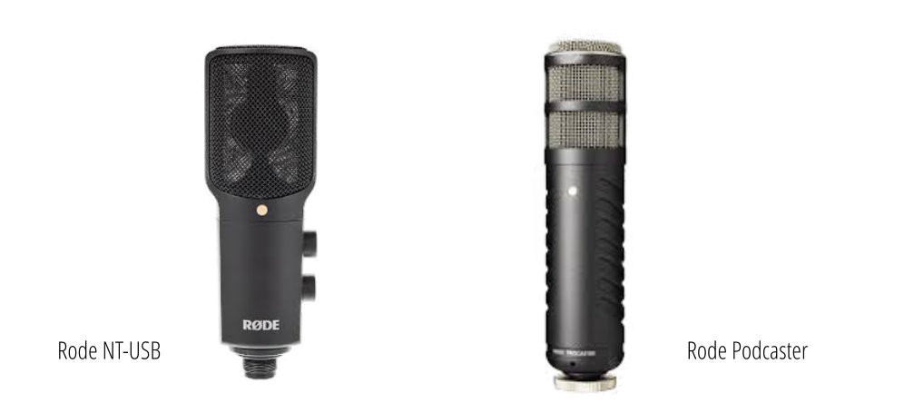 Rode NT-USB und Rode Podcaster