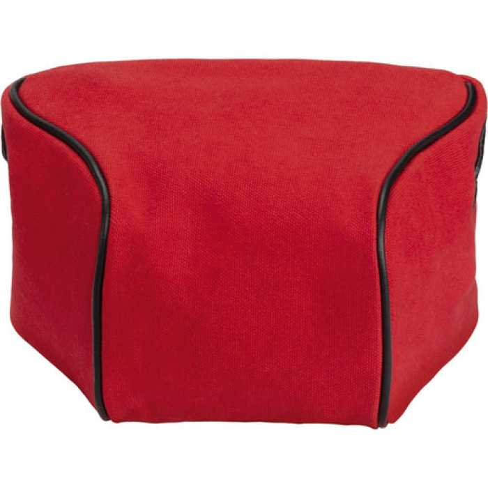 Leica Ettas Pouch Coated Canvas -red
